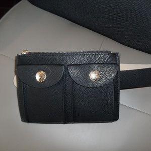 VINCE CAMUTO Double Pocket Faux Leather Belt Bag
